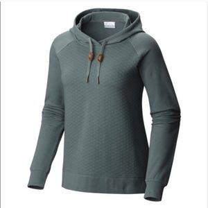 Columbia Harper Quilted Sage Green Pullover Hoodie